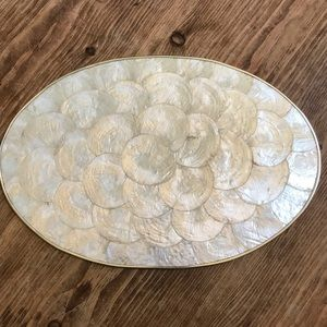 Vintage Abalone cork shell placemats